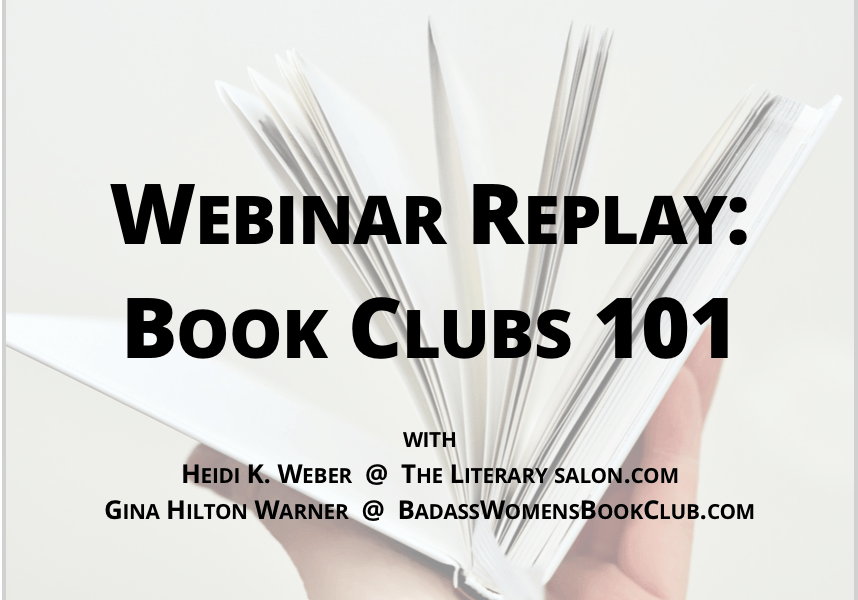 Webinar Replay: Book Clubs 101